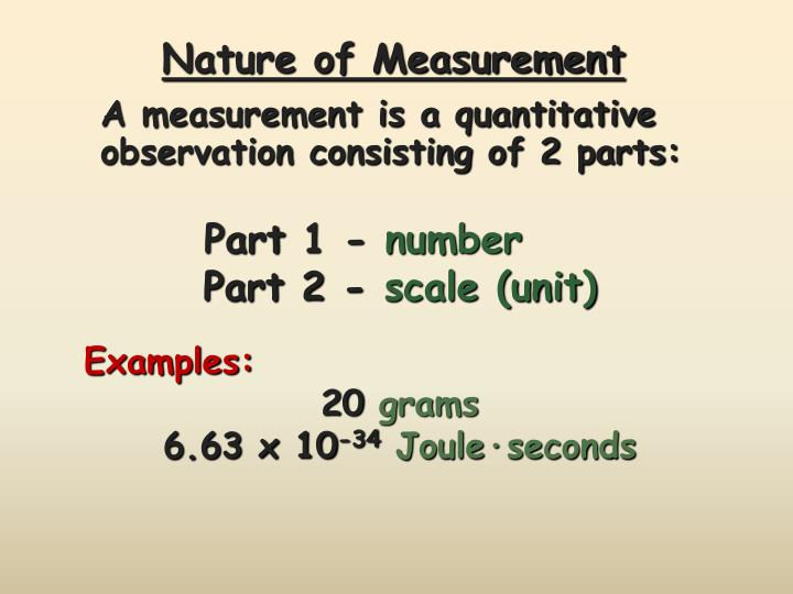 Nature of Measurement