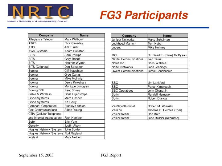 FG3 Participants