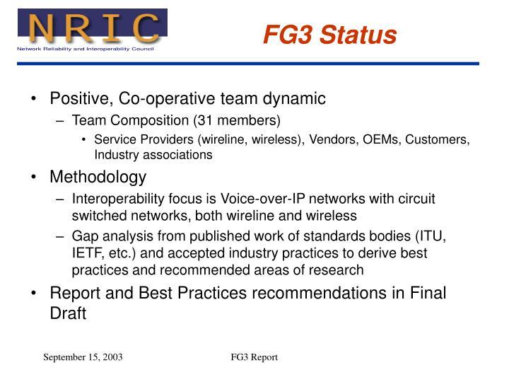 FG3 Status