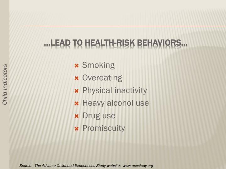 …Lead to Health-Risk Behaviors…
