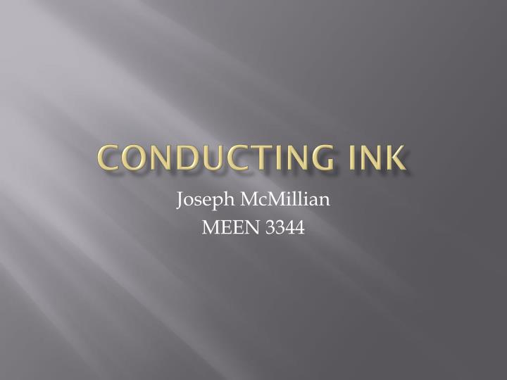 Conducting ink