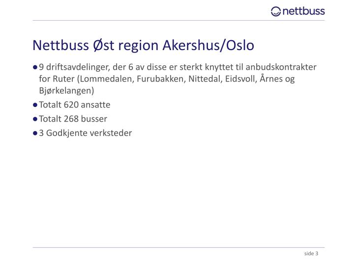 Nettbuss Øst region Akershus/Oslo