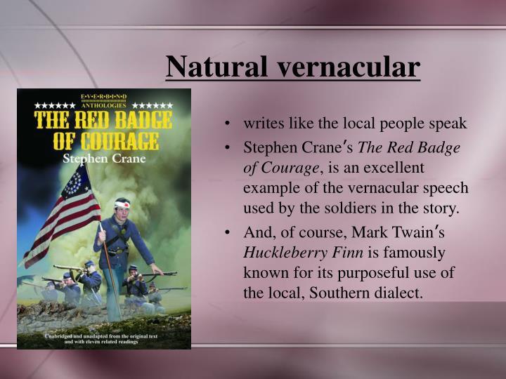 Natural vernacular