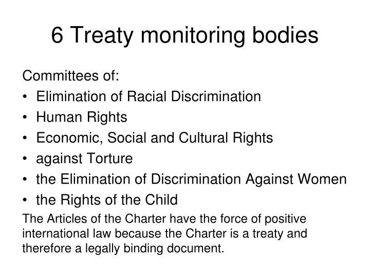 6 Treaty monitoring bodies