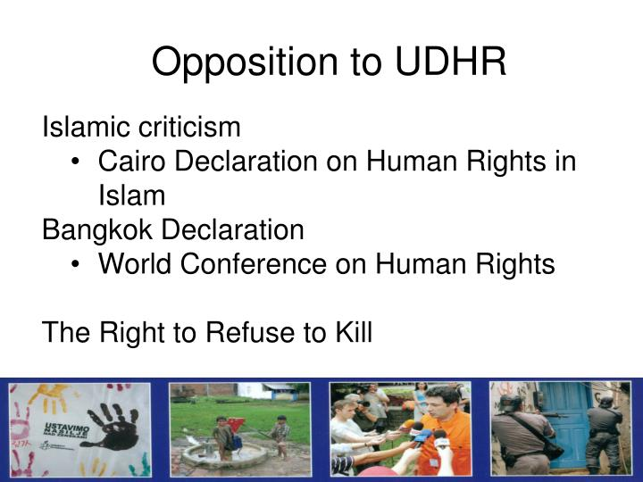 Opposition to UDHR