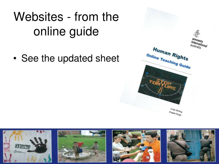 Websites - from the online guide