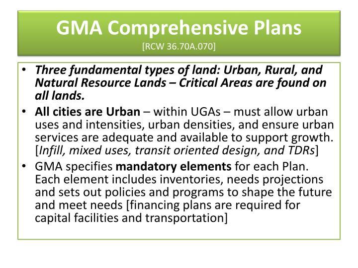 GMA Comprehensive Plans