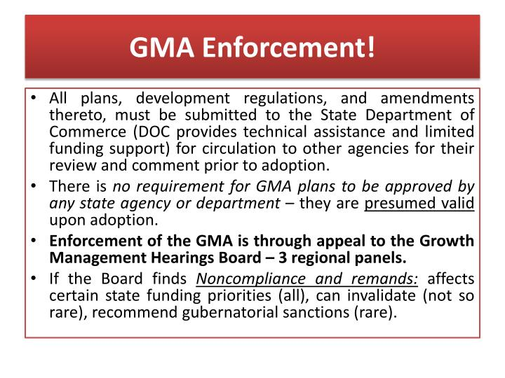 GMA Enforcement!