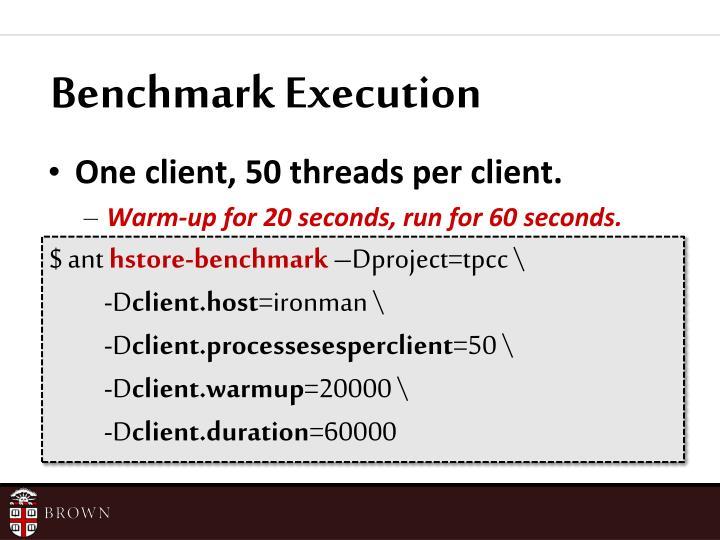 Benchmark Execution