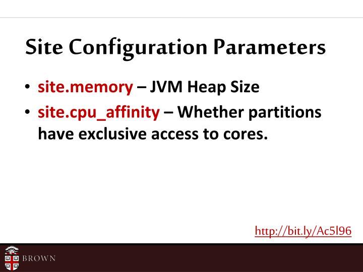 Site Configuration Parameters