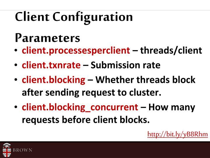 Client Configuration Parameters