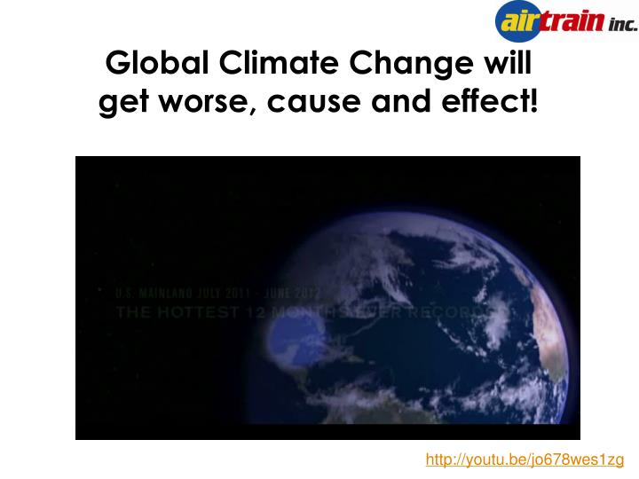 Global Climate Change will get worse, cause and effect!