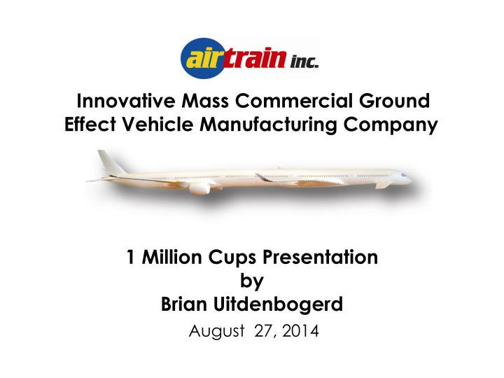 Innovative Mass Commercial Ground Effect Vehicle Manufacturing Company