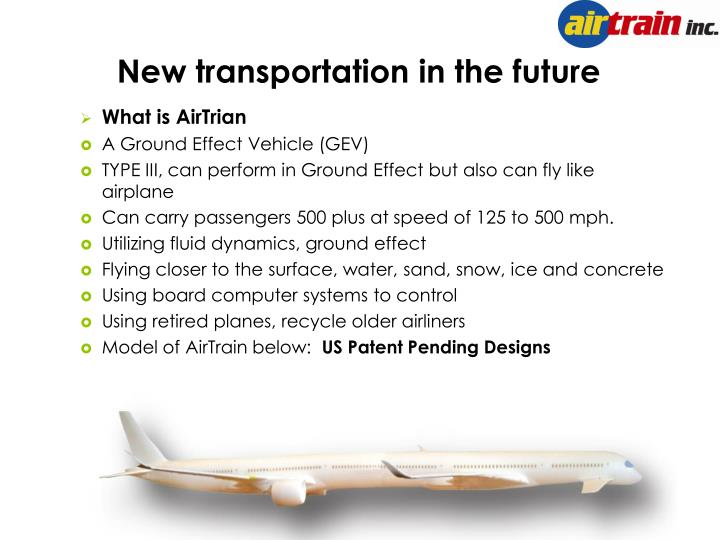 New transportation in the future