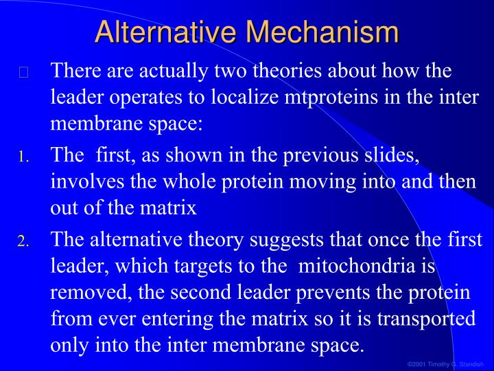 Alternative Mechanism