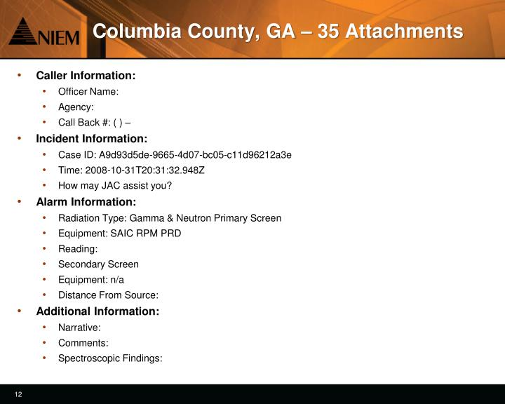 Columbia County, GA – 35 Attachments