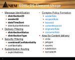 edxl de element usage