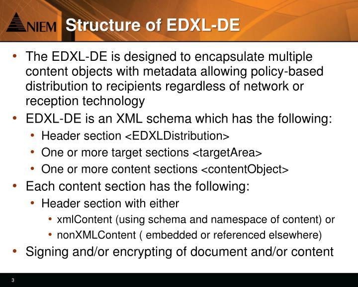 Structure of EDXL-DE
