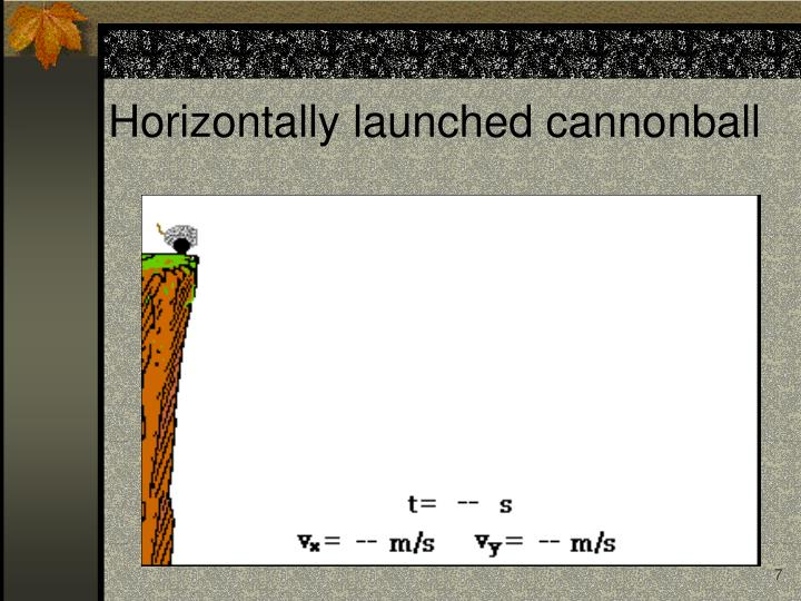Horizontally launched cannonball