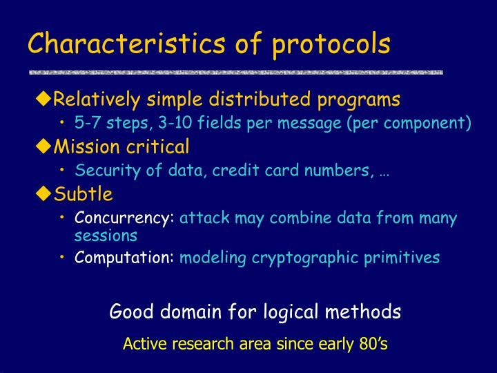 Characteristics of protocols