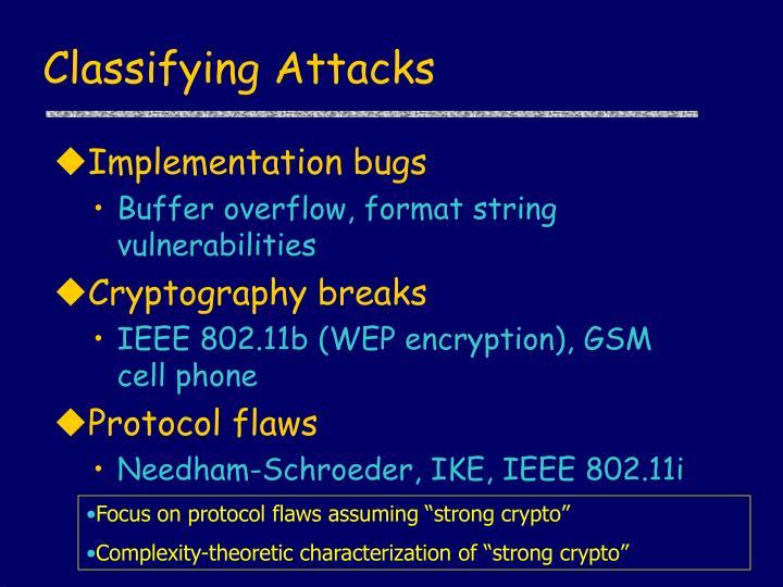 Classifying Attacks