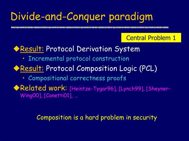 Divide-and-Conquer paradigm