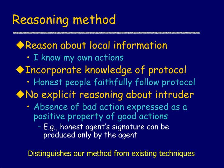Reasoning method
