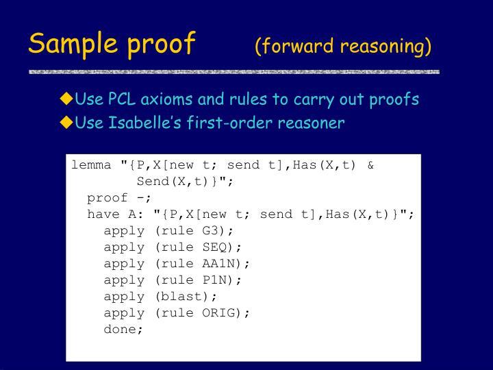 Sample proof