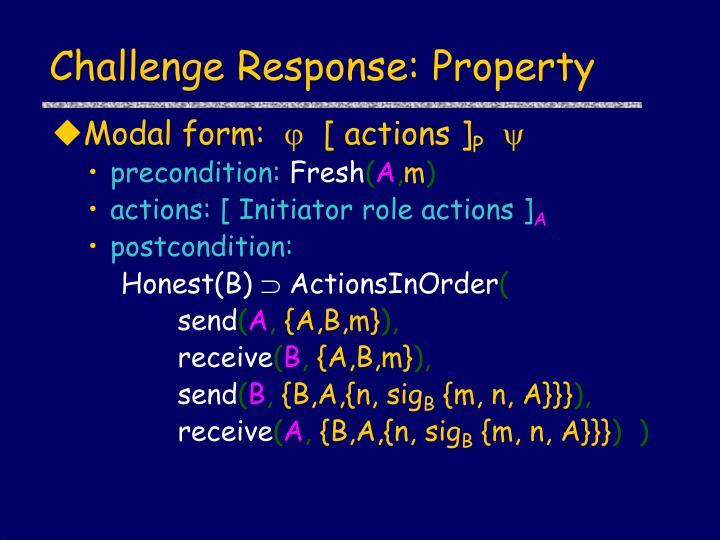 Challenge Response: Property
