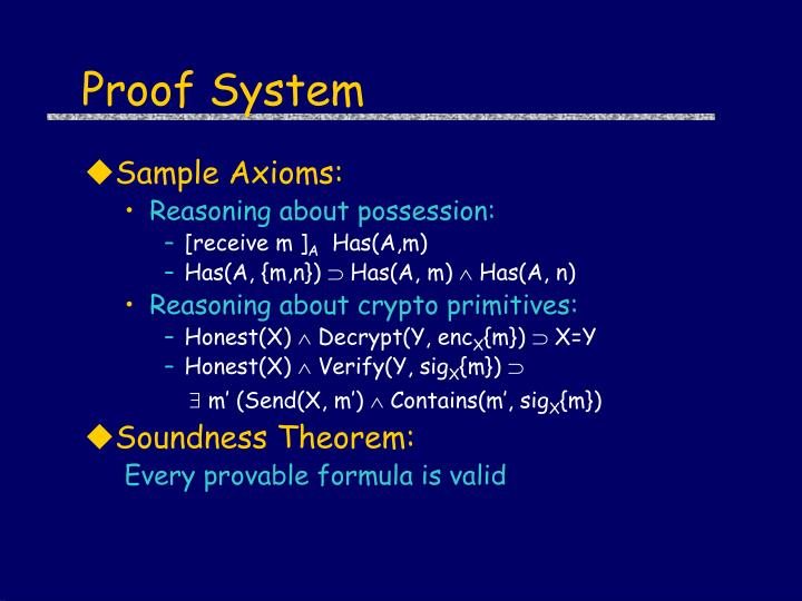 Proof System