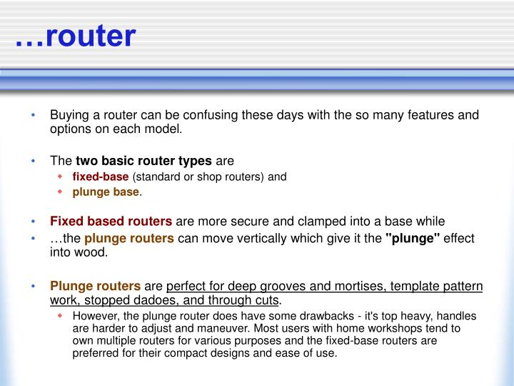…router