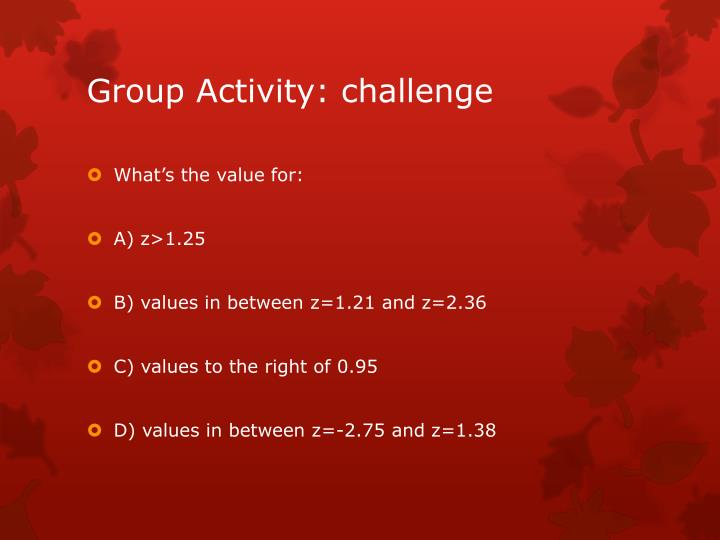 Group Activity: challenge