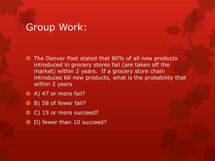 Group Work: