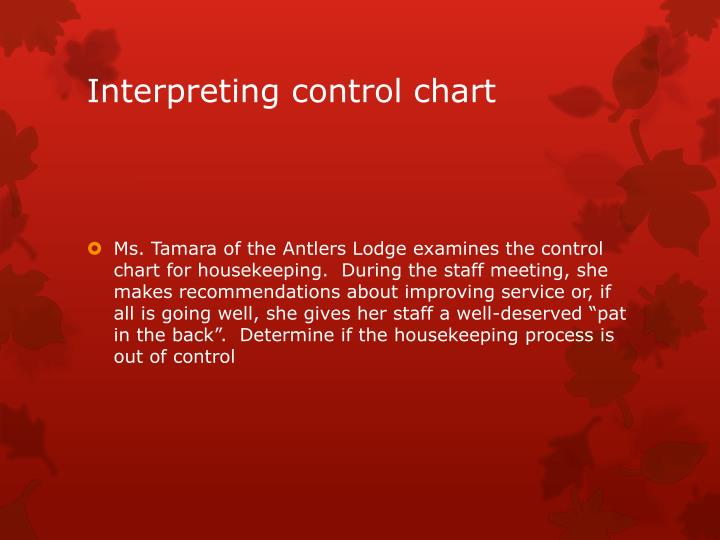 Interpreting control chart