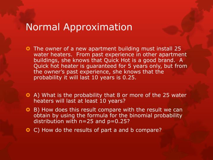 Normal Approximation