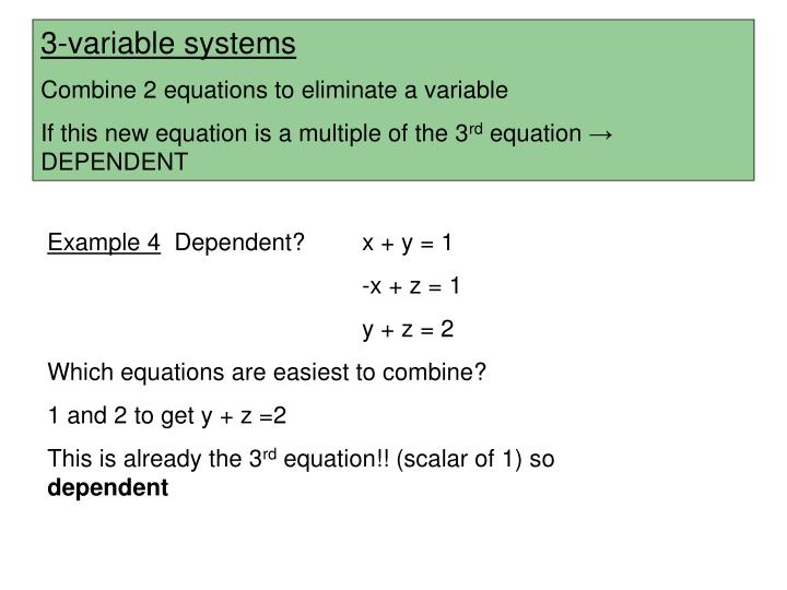 3-variable systems