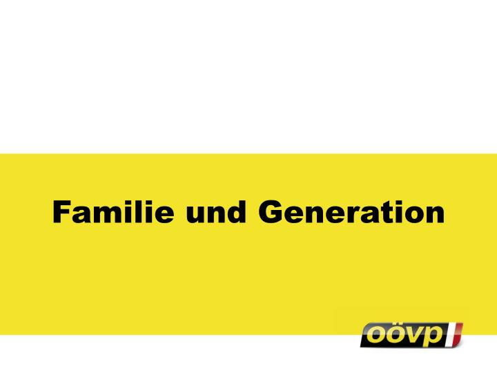 Familie und Generation
