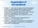 organization of the handbook1