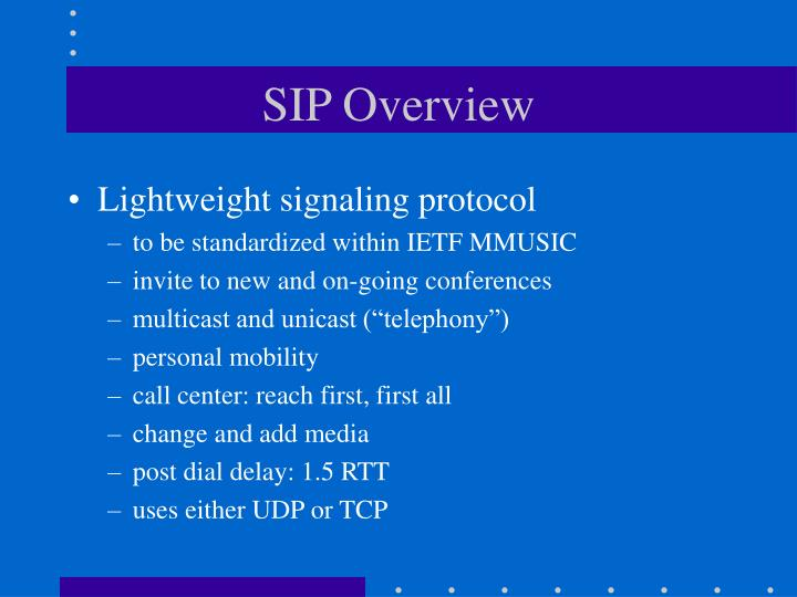 Sip overview