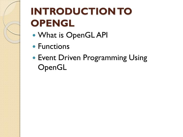 Introduction to opengl1