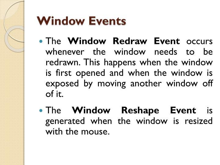 Window Events