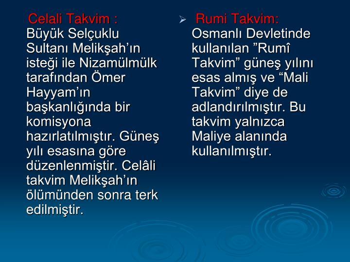 Celali Takvim :