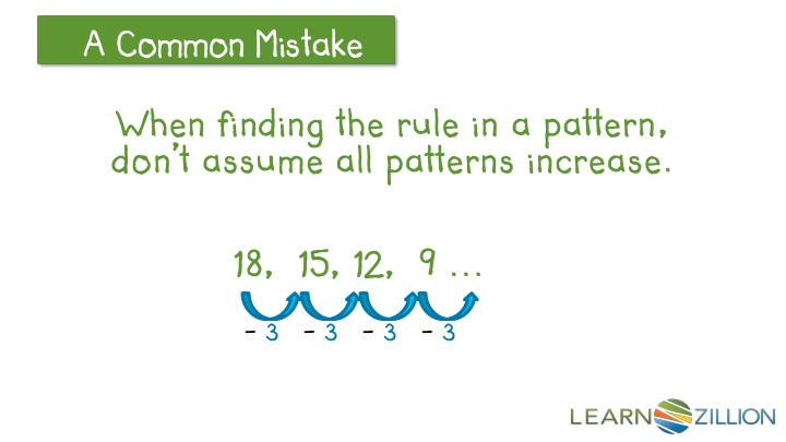 When finding the rule in a pattern, don't assume all patterns increase.