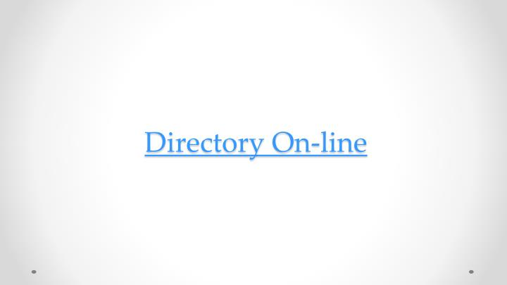 Directory On-line
