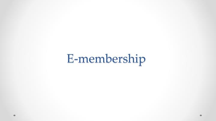 E-membership