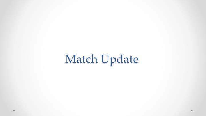 Match Update