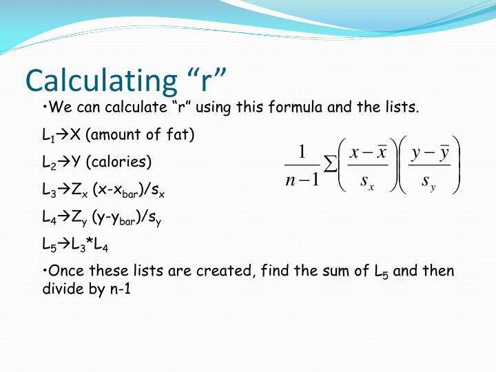 "Calculating ""r"""