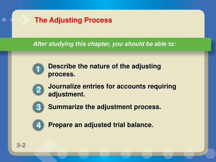 Describe the nature of the adjusting process.