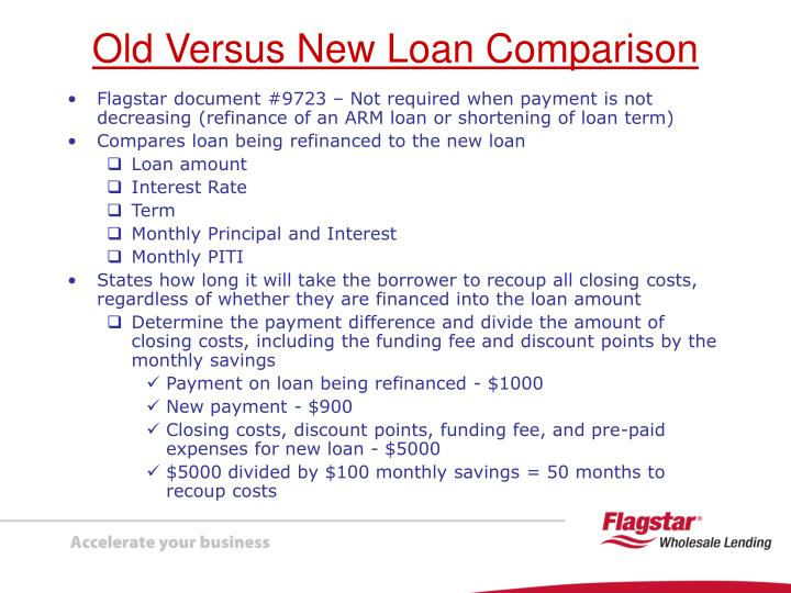 Flagstar document #9723 – Not required when payment is not decreasing (refinance of an ARM loan or shortening of loan term)
