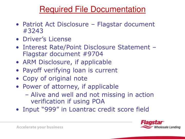 Patriot Act Disclosure – Flagstar document #3243